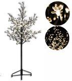 Dekoracyjne LED  drzewo z kwiatami - 1,5 m, ciepła biel