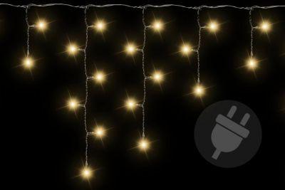 Świąteczne lampki wygląd deszczu 144 LED ciepły biały – 5 m