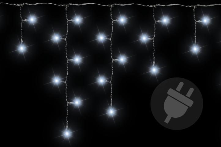 Lampki światełka deszcz 144 led zimny biały – 5 m