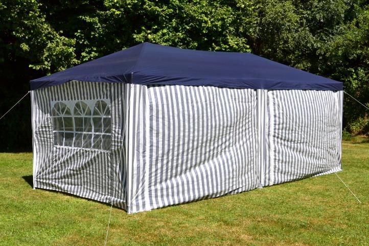 Pawilon ogrodowy 3 x 6 m niebieski