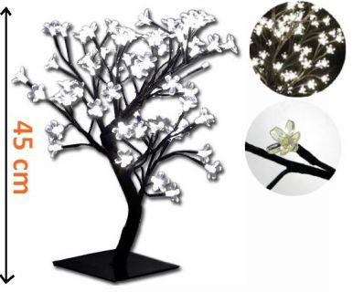 Oświetlenie dekoracyjne LED - drzewo z kwiatami, chłodne białe