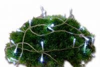 Lampki świąteczne 100 LED zimny biały zewnętrzne