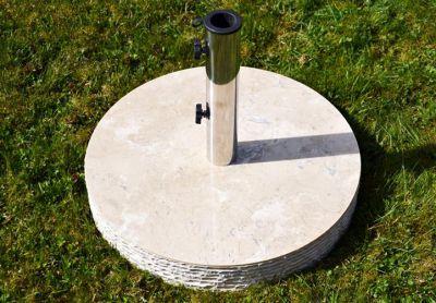 Podstawa okrągła z marmuru i stali nierdzewnej pod parasol 40kg