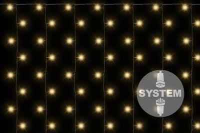 diLED świetlna kurtyna - 200 LED, ciepła biel