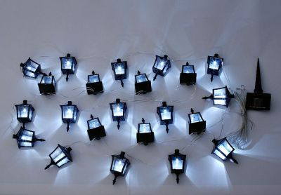 Łańcuch lamp ogrodowych solarny Garth - latarnie 24 diod LED