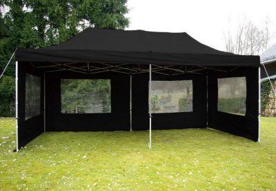 Pawilon ogrodowy rozkładany 3 x 6 m - czarny