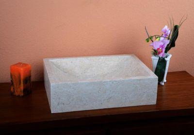 Umywalka nablatowa z naturalnego kamienia Filiano