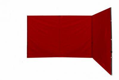 Komplet dwóch ścian do pawilonu PROFI 3 x 3 m -czerwonybez okien