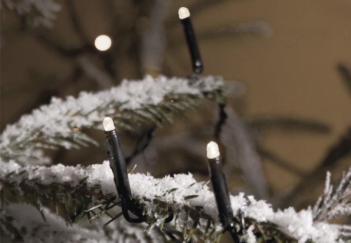 Lampki świąteczne LED białe, 300 diod