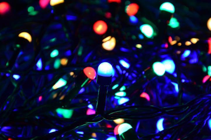 Lampki świąteczne 100 Maxi Led Kolorowe Zewnętrzne 10m