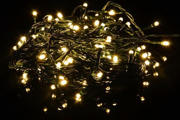 Lampki świąteczne LED ciepłe białe - Lampki 400 diod