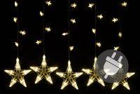 Świąteczna dekoracja - świecące gwiazdki, 100 diod LED