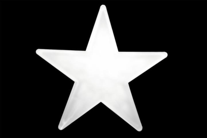 Gwiazda świąteczna 20 LED 3D biała