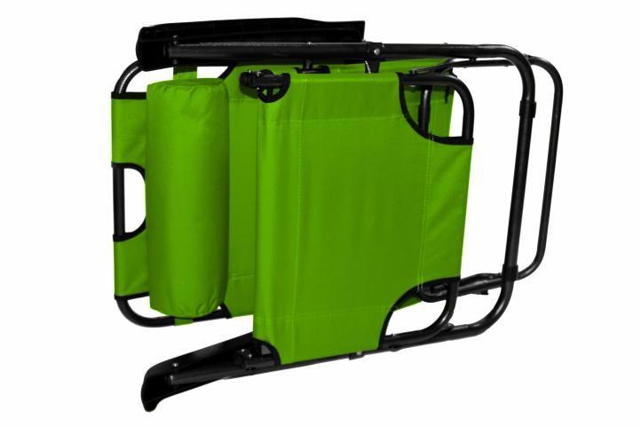 Składany leżak ogrodowy - zielony