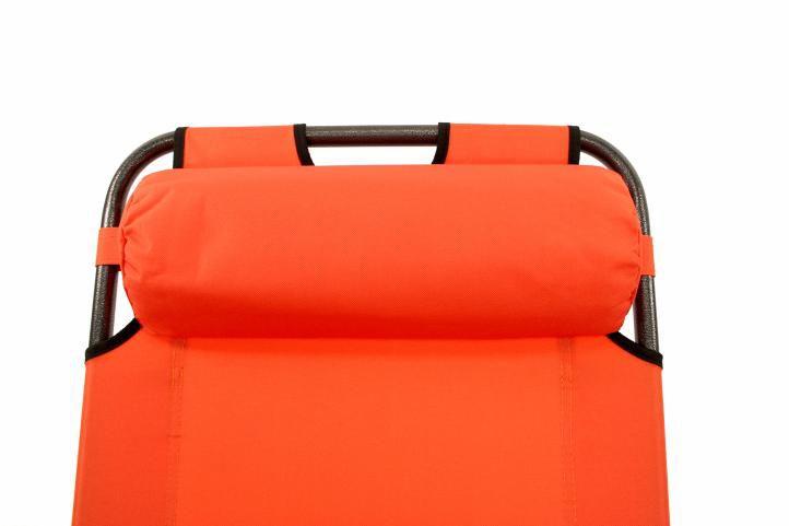 Leżak ogrodowy w kolorze pomarańczowym