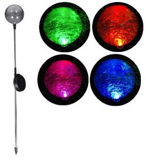 Lampa ogrodowa Garth solarna LED w kształcie kuli (zmienia kolory)
