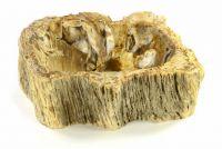 DIVERO Umywalka nablatowa z naturalnego kamienia Fossil
