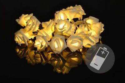 Dekoracyjne LED oświetlenie - róże - 20 LED, ciepły biały