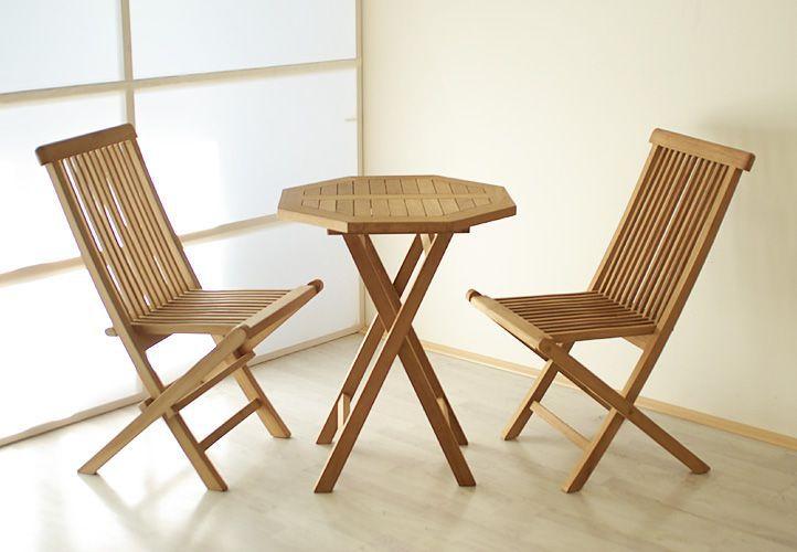 Zestaw Mebli Ogrodowych Gardenay Z Drewna Tekowego 2 Krzesła 1 Stół