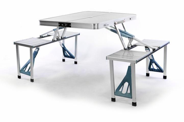 Stół ogrodowy składany z ławkami (walizka)