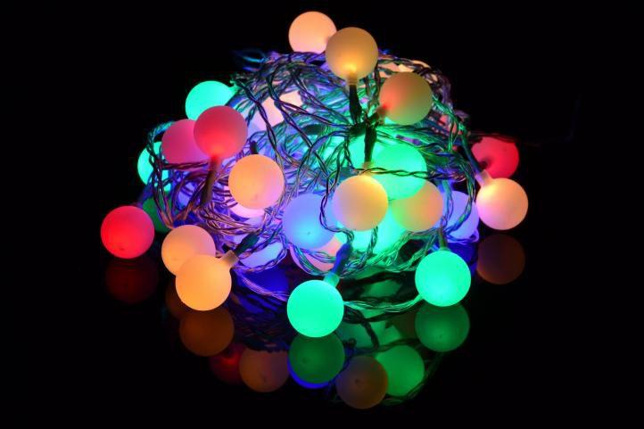 Imprezowe oświetlenie ogrodowe - zewnętrzne, 50 LED pastelowe kolory
