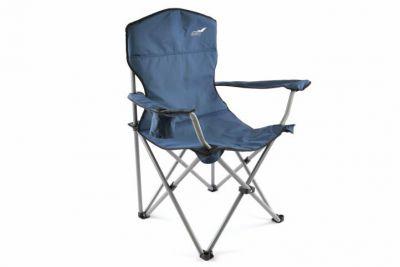 Składane krzesło na camping DIVERO XL -granatowe