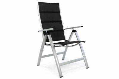 Krzesło ogrodowe składane aluminiowe czarne