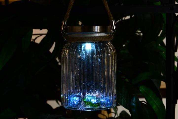 Oświetlenie solarne - podwieszane szklane