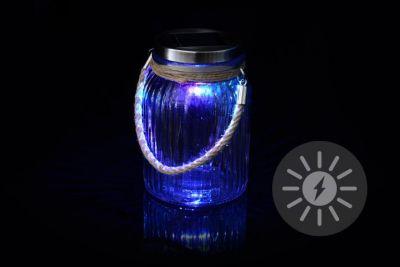 Dekoracyjne oświetlenie solarne- lampka wisząca - diody LED zmieniające kolor