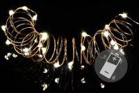 Komplet czterech łańcuchów - sprężyn LED na baterie