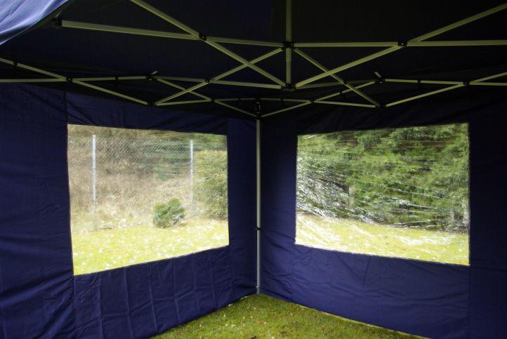 Pawilon ogrodowy rozkładany 3 x 6 m - niebieski