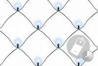 Świąteczna LED świetlna siatka -1,5x1,5 m,100 diod, zimna bi