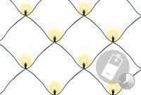 Świąteczna LED świetlna sieć-1,5x1,5 m,100 diod, ciepła biel