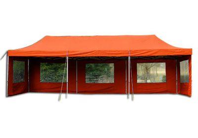 Pawilon ogrodowy rozkładany - pomarańczowy, 3 x 9 m