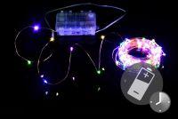 Oświetlenie LED - przewód miedziany - 100 LED kolorowych