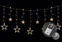 Łańcuch świąteczny LED - Gwiazdki - 138 LED 1,65 m ciepłe białe