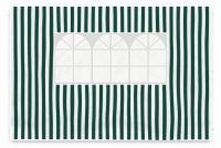 Komplet dwóch ścian do pawilonu Garth 3 x 3 m - biało-zielony
