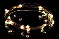 Łańcuch oświetleniowy świąteczny MINI 20 LED - ciepły biały kolor