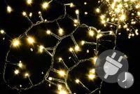 Świąteczny bogaty LED łańcuch - 20 m, 1000 diod, ciepła biel