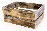 Drewniane pudełko VINTAGE DIVERO brązowe - 51 x 36 x 23 cm
