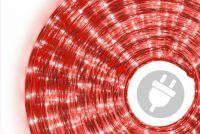 Świetlny kabel - 360 mini lampek, 10 m, czerwony