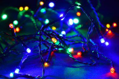 Lampki świąteczne 100 LED kolorowe zewnętrzne - 10m