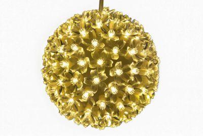 Świąteczna dekoracja - LED świetlna kula, ciepła biel