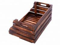 Drewniane skrzynka DIVERO z możliwością układania w stos
