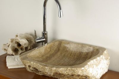 Umywalka nablatowa z naturalnego kamienia MERAN