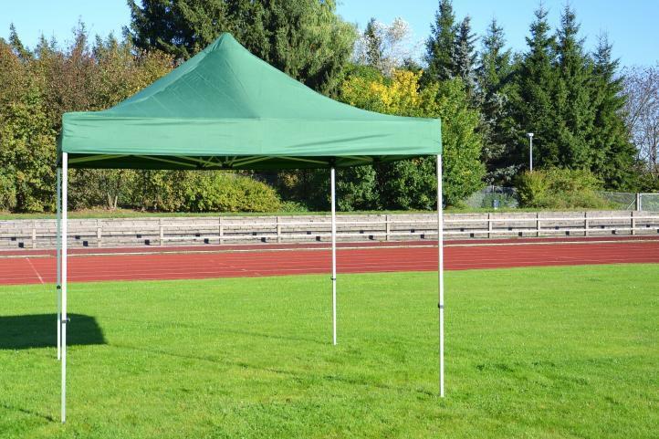Pawilon ogrodowy PROFI rozkładany 3 x 3 m - zielony, 4 ściany