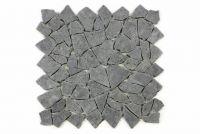 Mozaika kamienna z andezytu Garth na siatce ciemno szara 1 m2
