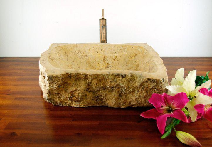 Umywalka nablatowa z naturalnego kamienia SAVONA