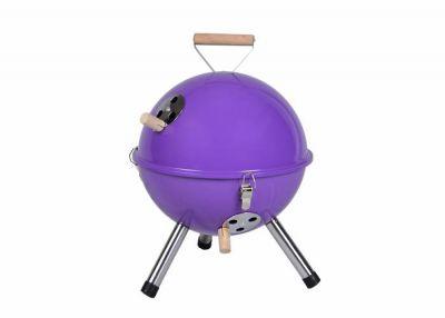 Kolorowy kulisty grill przenośny - fioletowy
