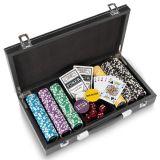Zestaw pokerowy Texas Holdem Black Jack i żetony laserowe